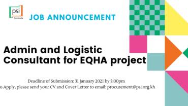 Admin and Logistic Consultant for EQHA project