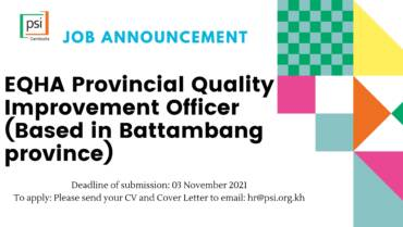 EQHA Provincial Quality Improvement Officer,